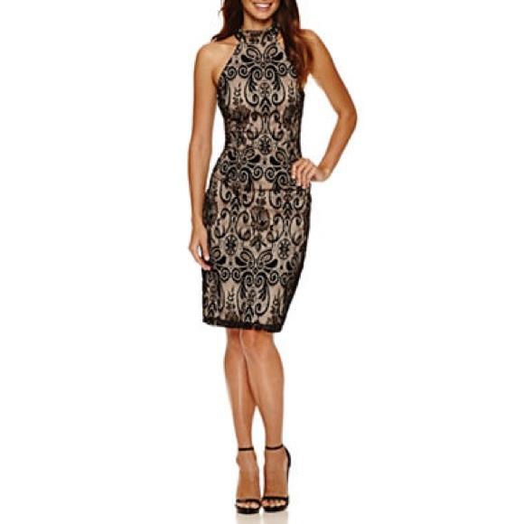 65d4887c Bisou Bisou Dresses | Black Lace Dress Nude Underlay Size 2 | Poshmark